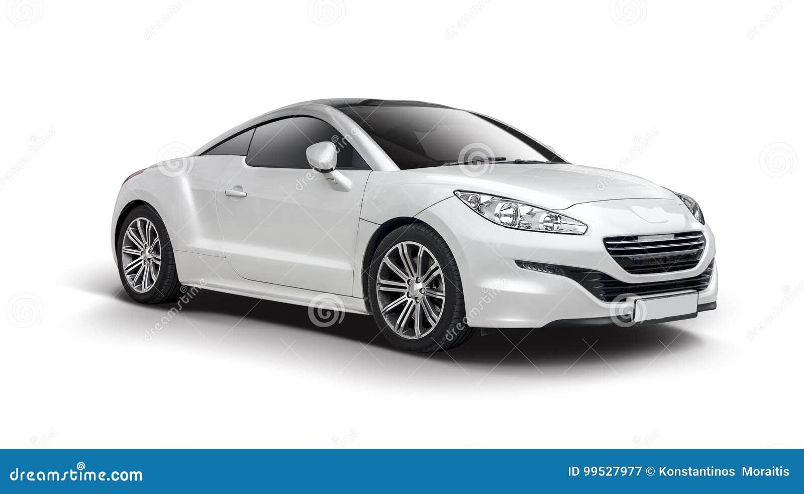 Peugeot Rcz Sur Le Blanc Illustration Stock Illustration Du