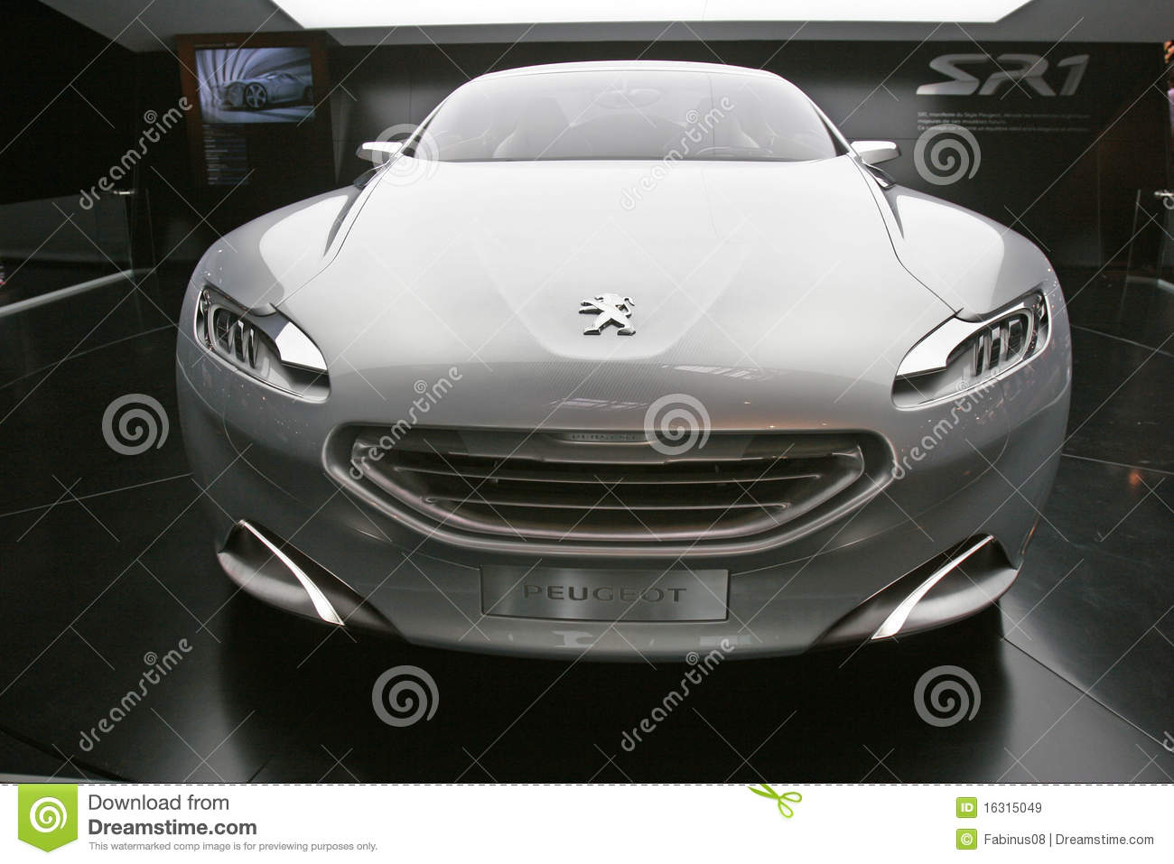 Image 11 Of 50 2018 Peugeot Sr1 Concept Car Front And Side 1951 Buick Xp 300 Editorial Stock