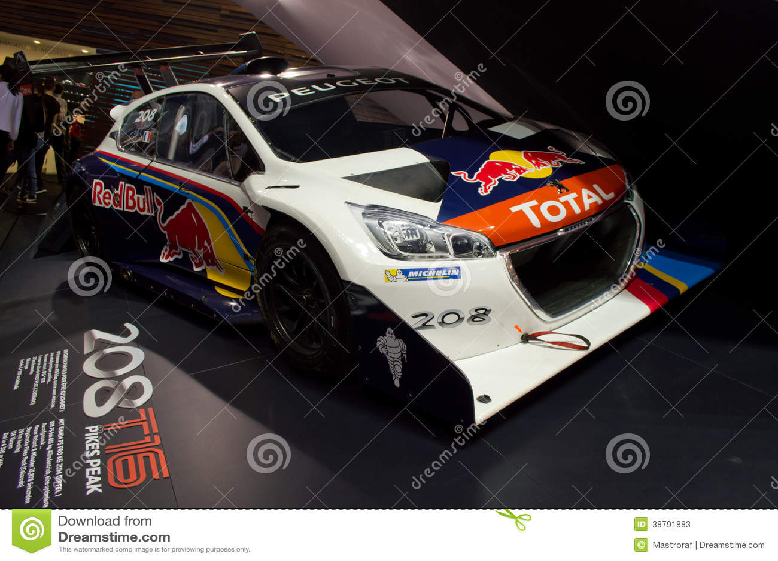 Peugeot 208 t16geneva 2014 editorial stock photo image - Salon de lauto geneve ...