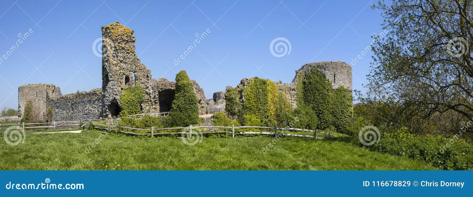 Pevensey slott i östliga Sussex