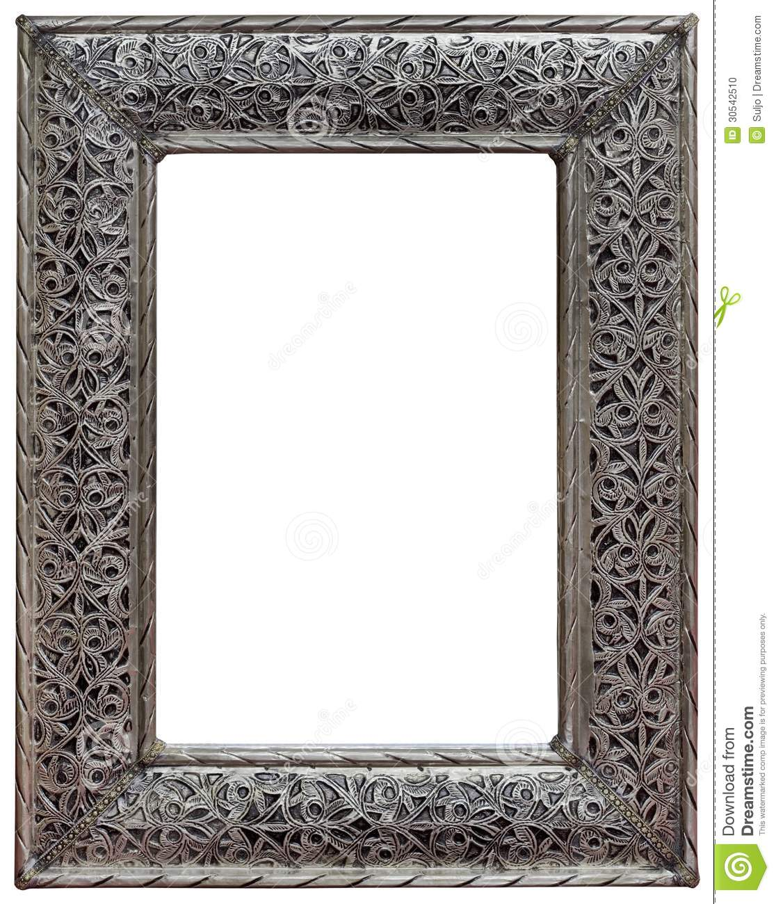 pewter mirror frame cutout