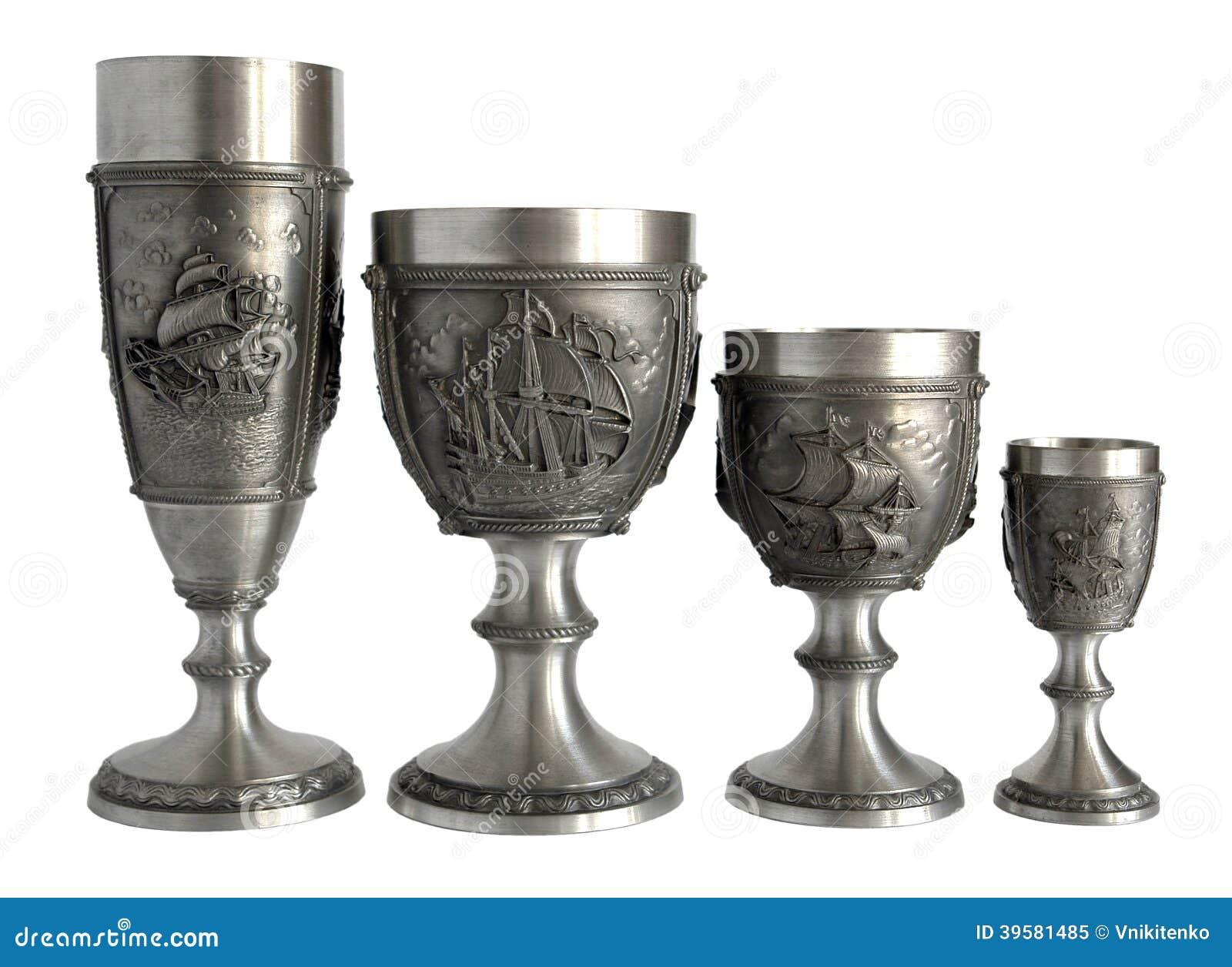 Fantasy Metal Wine Glasses