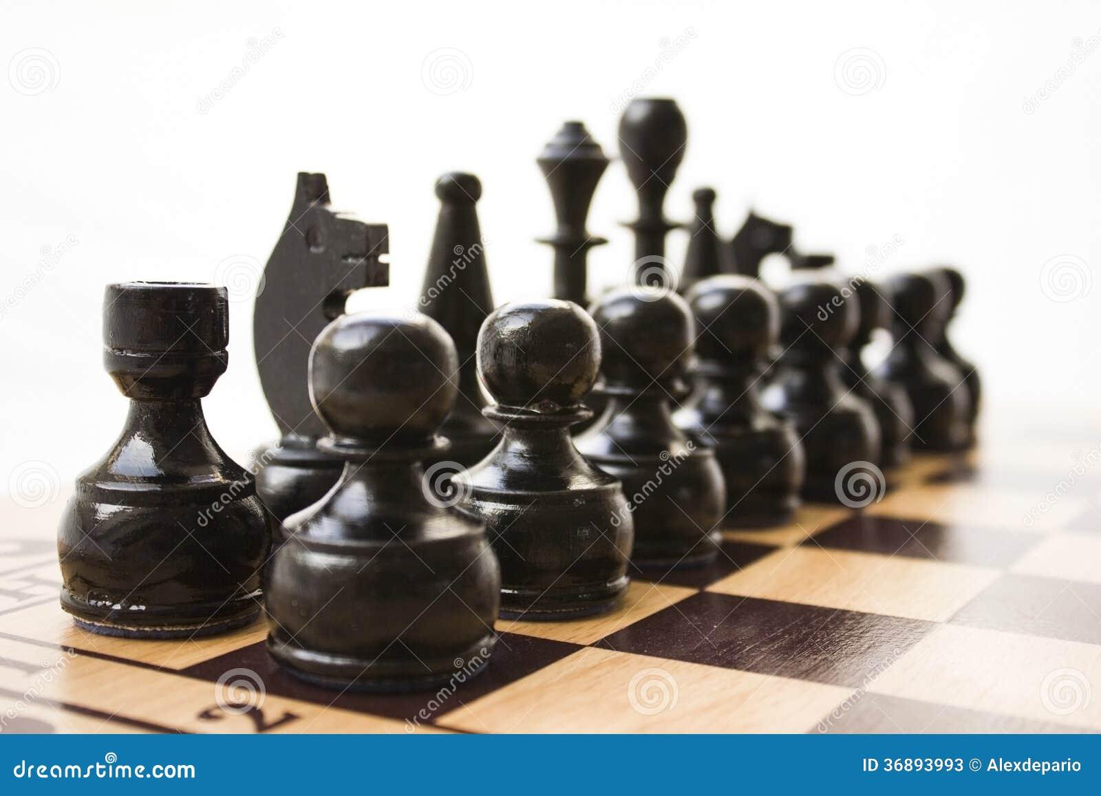 Download Pezzi degli scacchi immagine stock. Immagine di potenza - 36893993