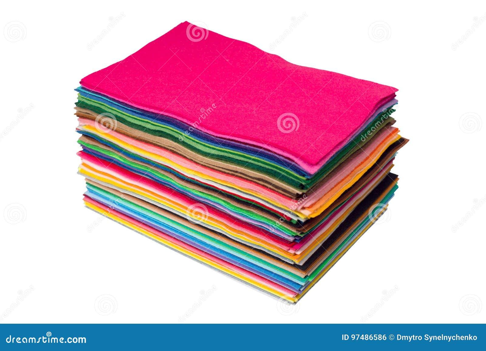 Pezzi multicolori di feltro