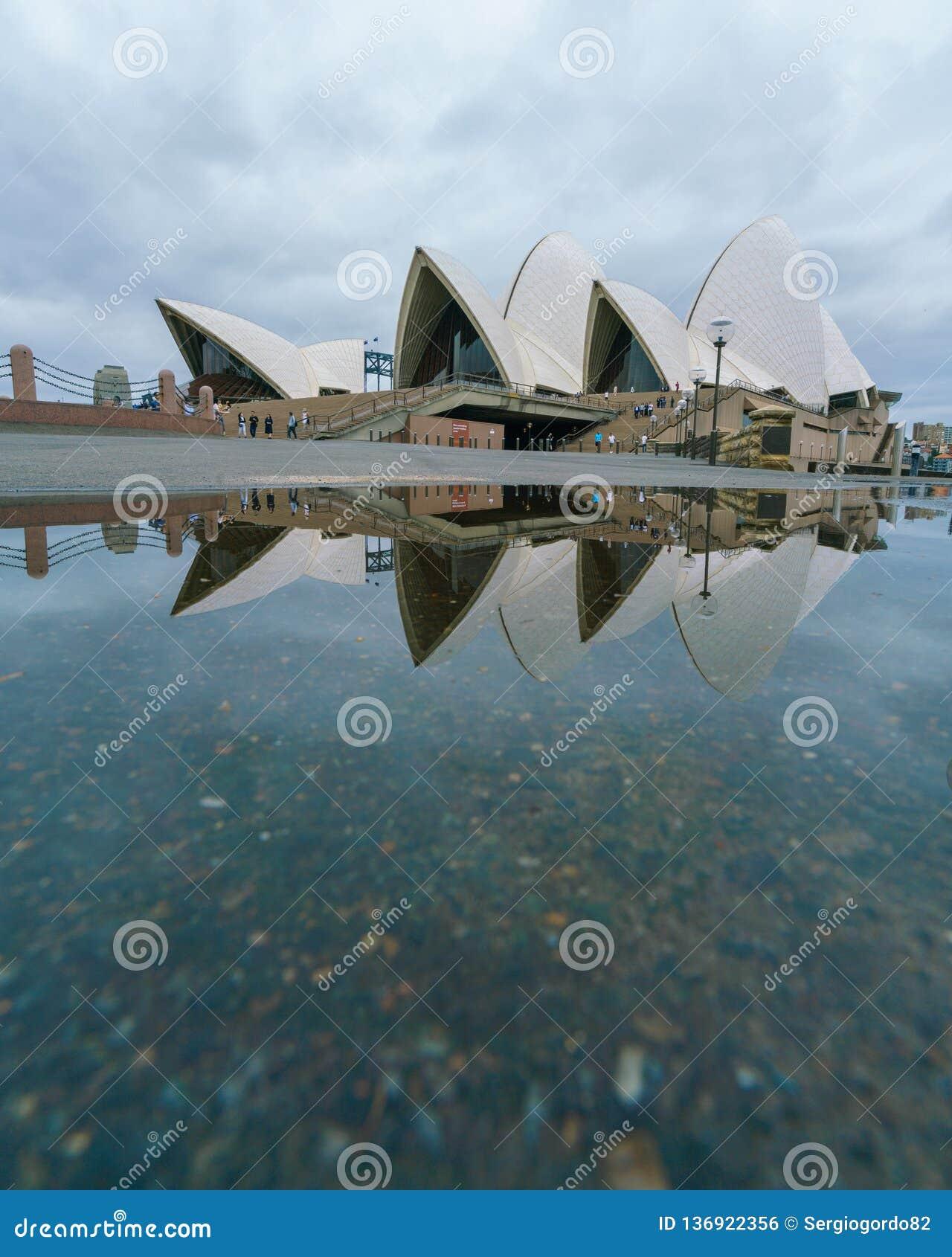 Pezzo 2019 di arte di Sydney del teatro dell opera di riflessione