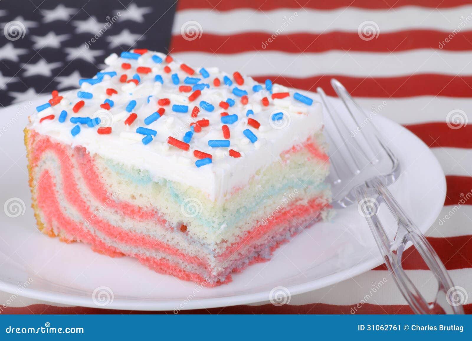 Pezzo di dolce patriottico