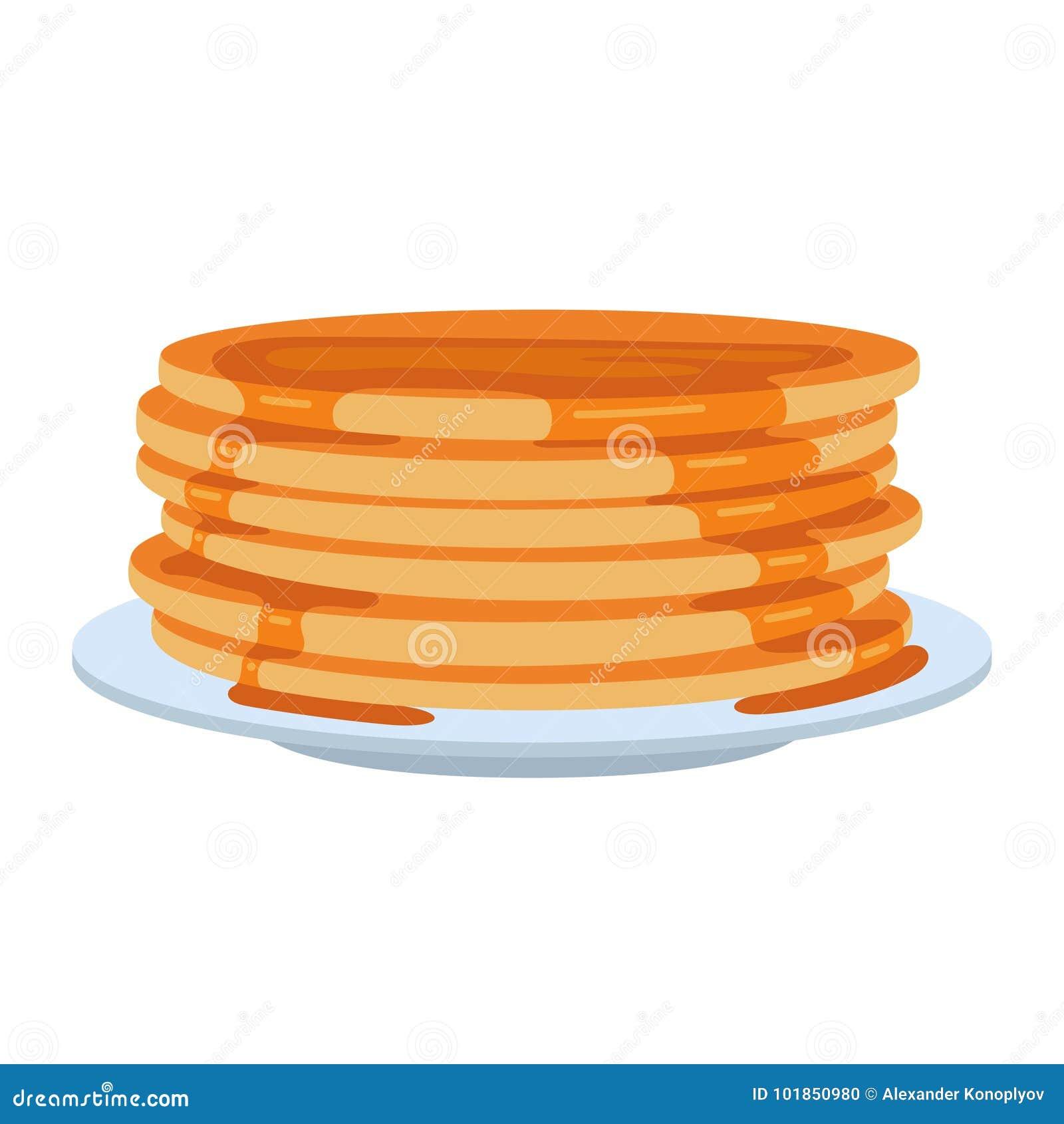 Pfannkuchen auf Platte