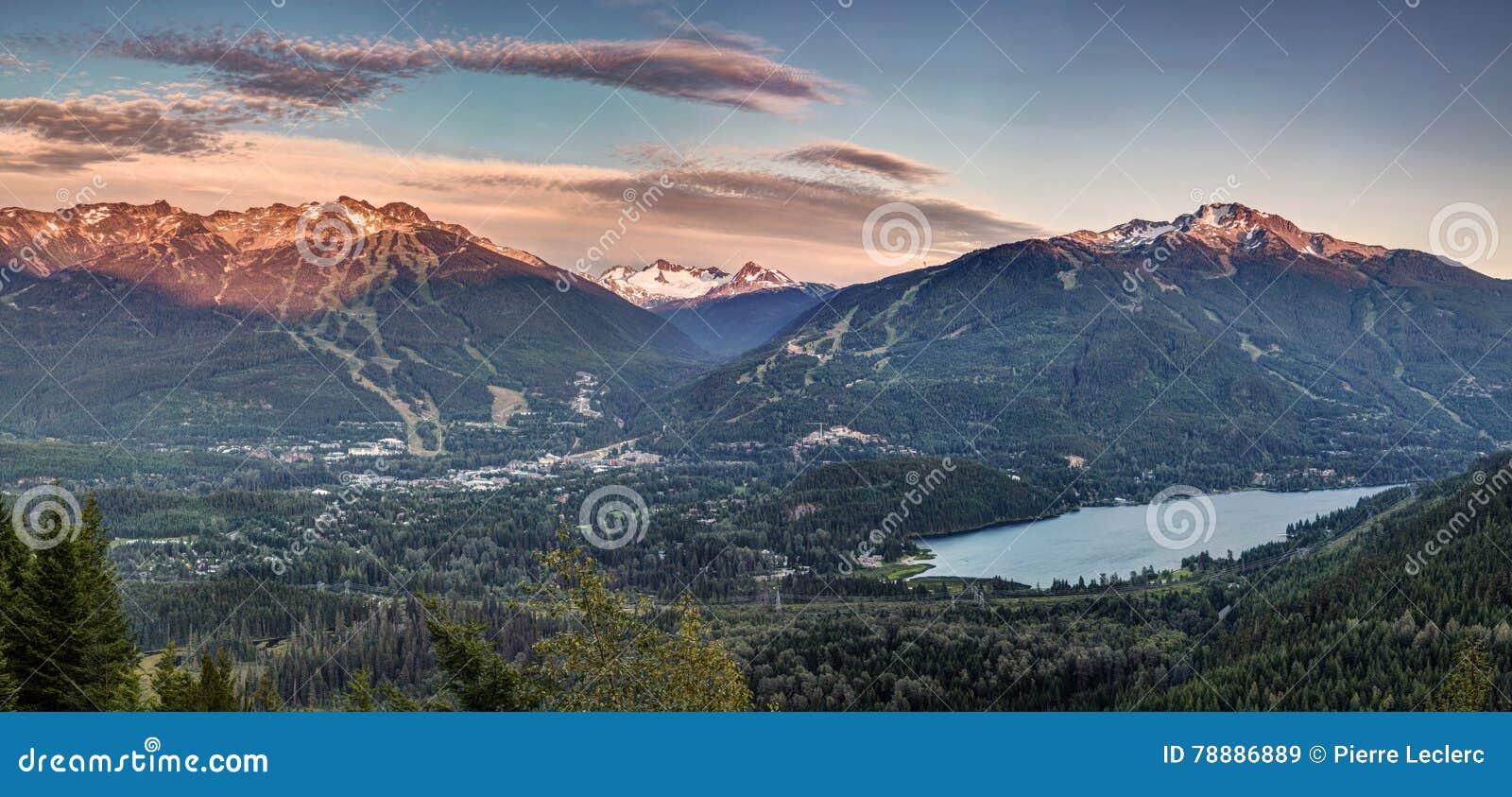 Pfeifer Blackcomb-Sonnenuntergang Panorama