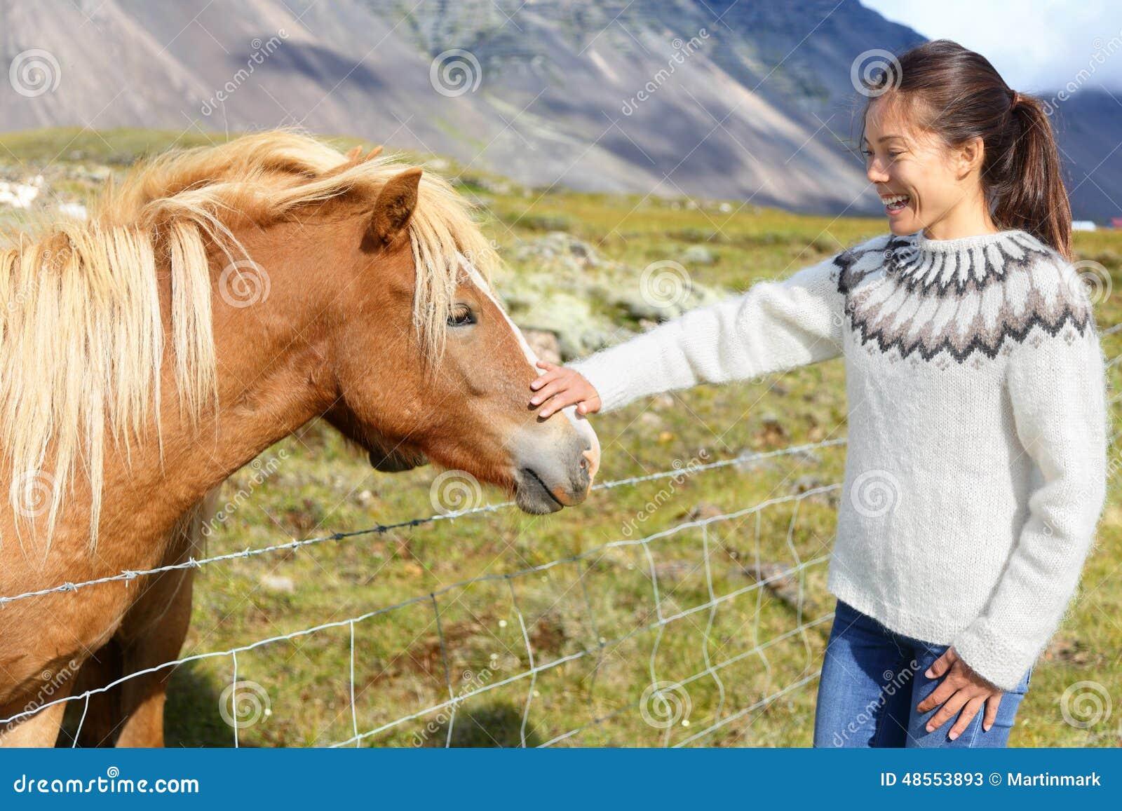 Pferde frau