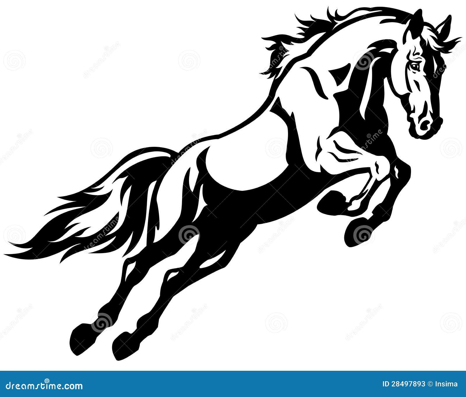Pferd Springen Vektor Abbildung Illustration Von Springen