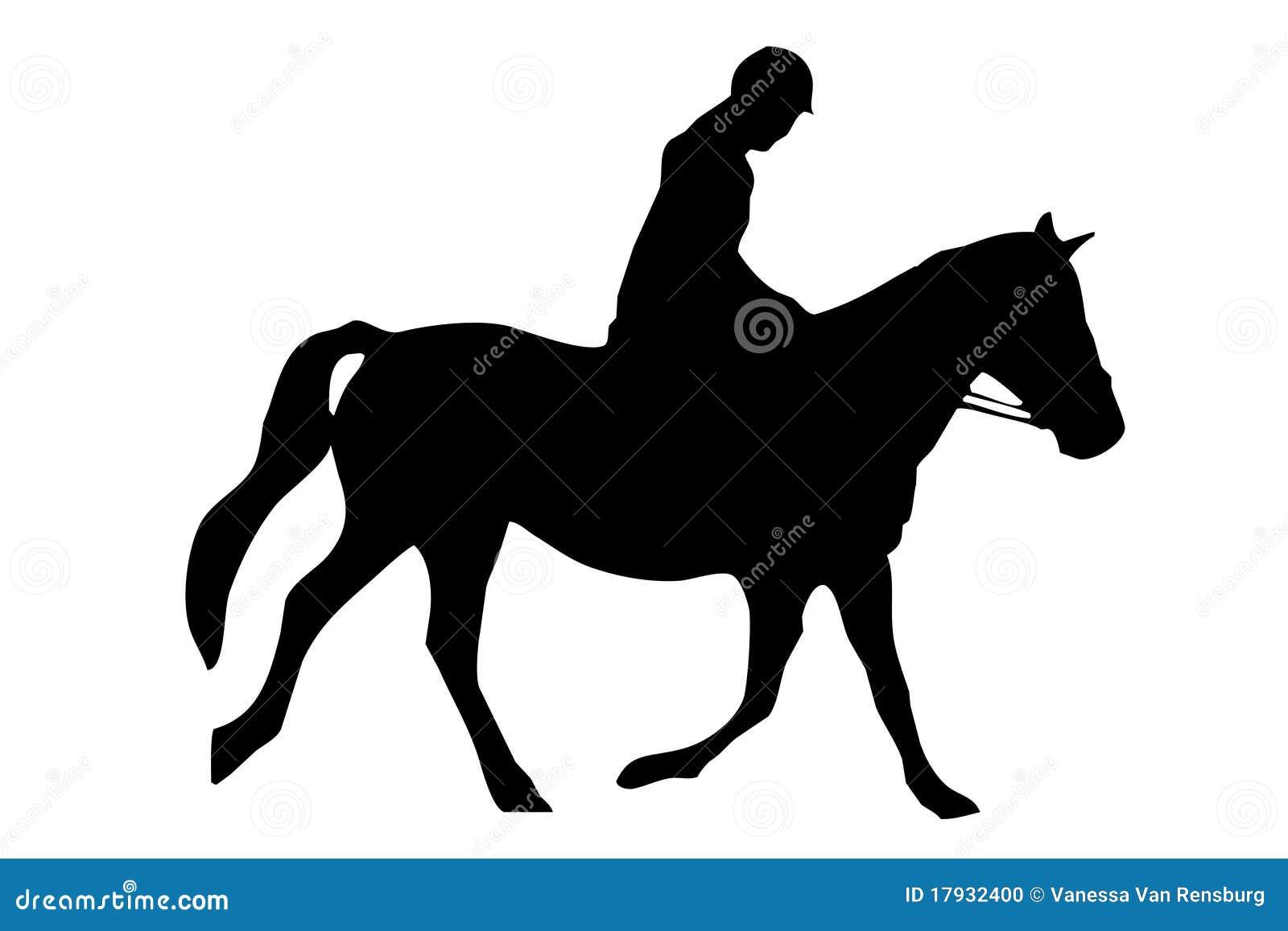 Pferden-Reiten