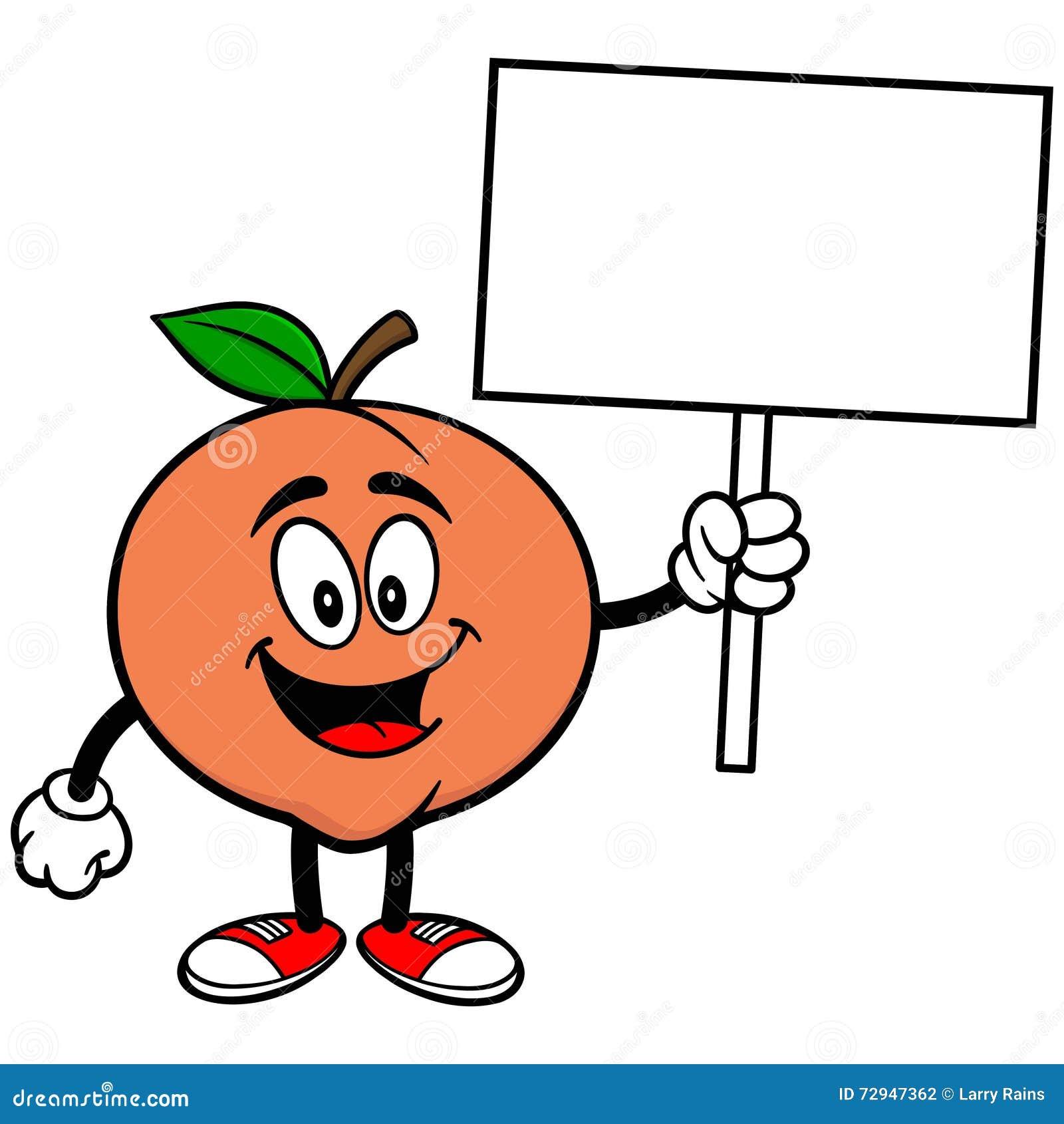 Pfirsich mit Zeichen
