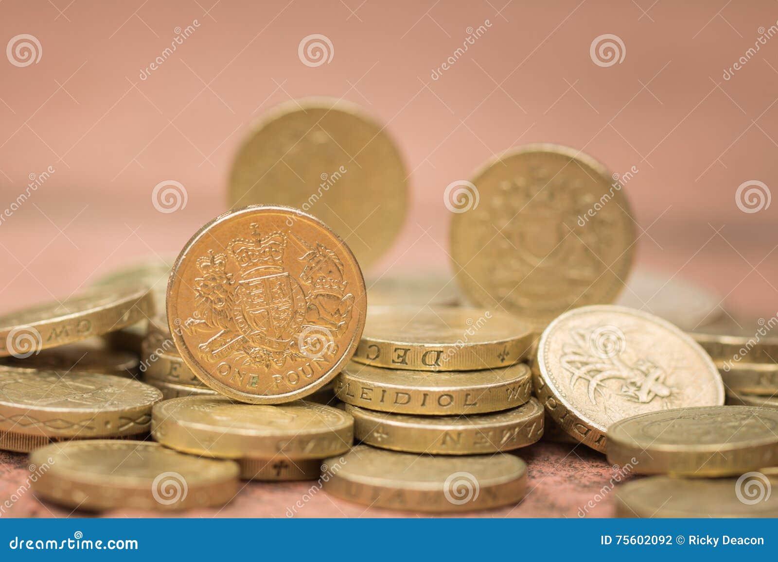 1 Pfund Stockfoto Bild Von änderung Münze Wirtschaftlichkeit