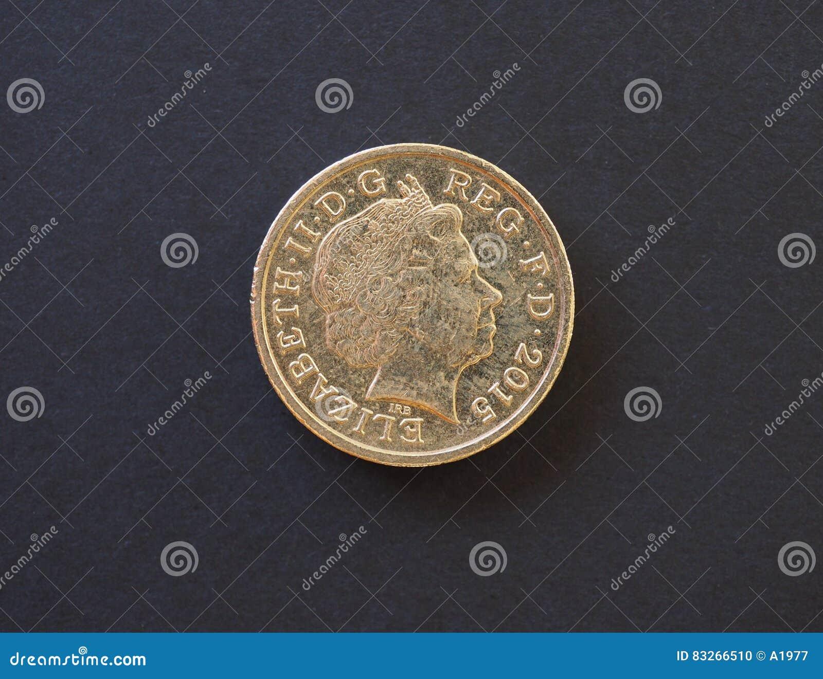1 Pfund Münze Vereinigtes Königreich In London Redaktionelles Bild