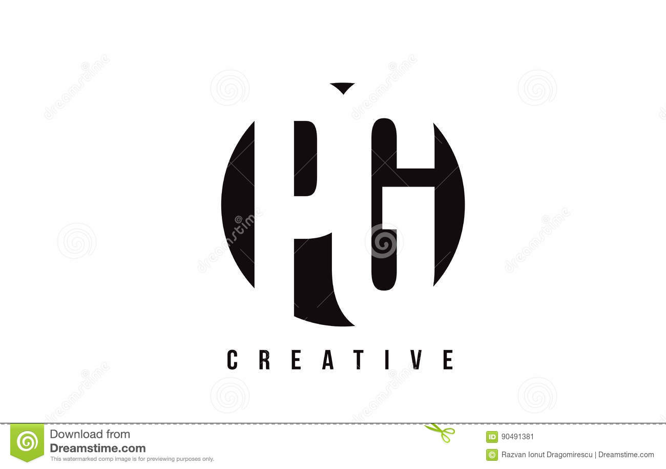 Pg P G White Letter Logo Design With Circle Background Stock Vector