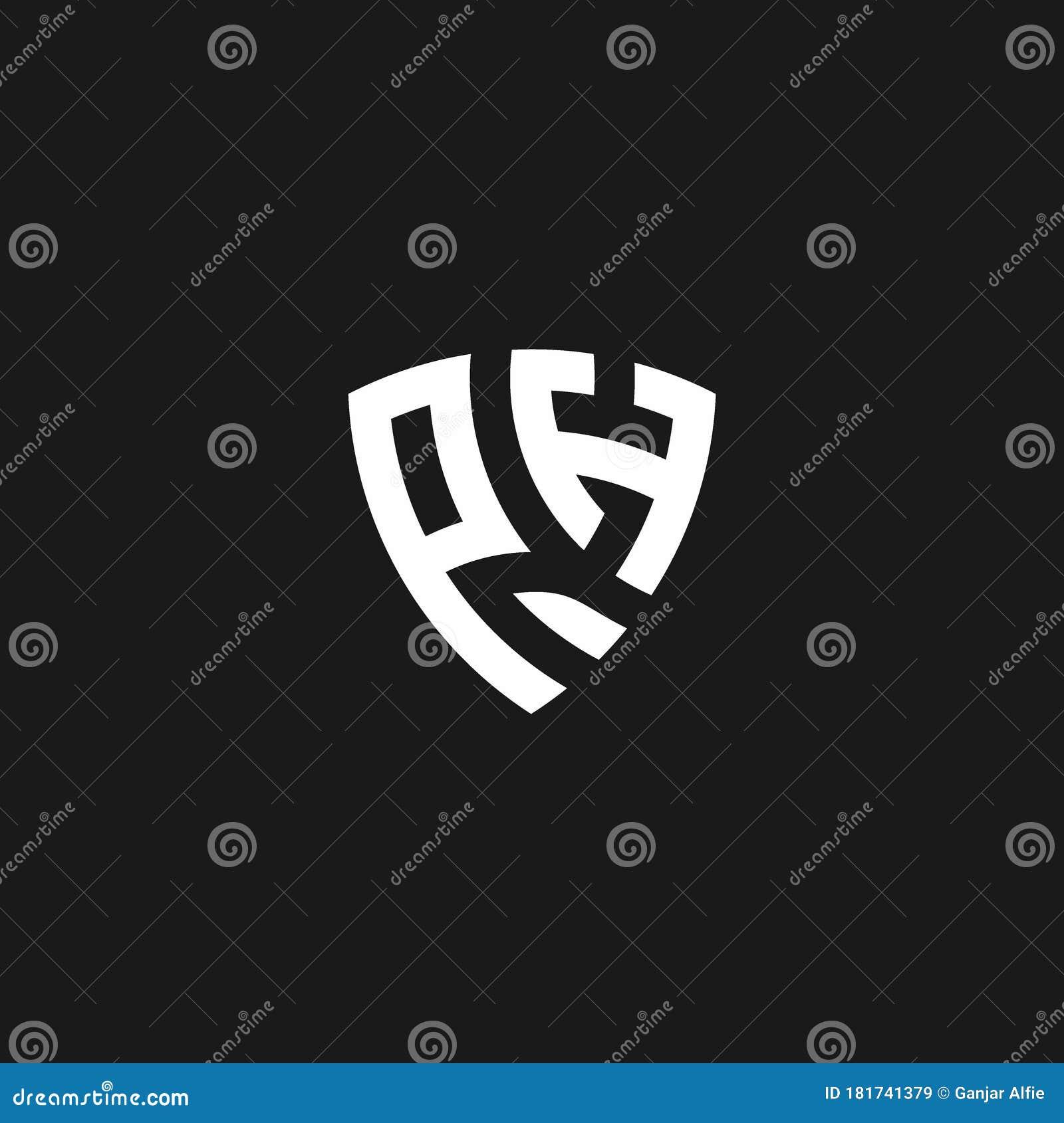 Ph Monogram Logo With Shield Shape Stock Vector Illustration Of Marketing Initials 181741379