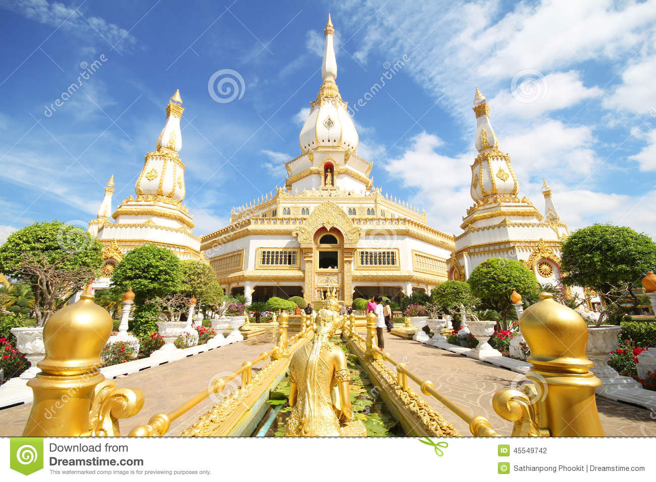Pha Nam Yoi Temple, Roi Et Thailand Stock Photo