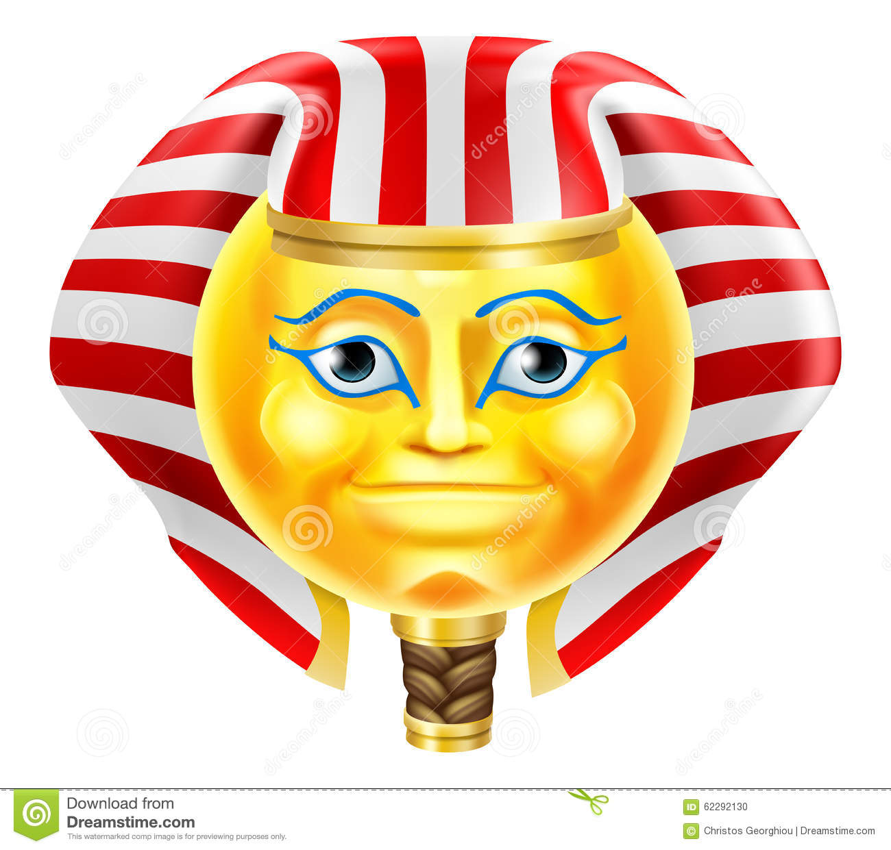 Pharaoh Emoji Emoticon Stock Vector Image 62292130