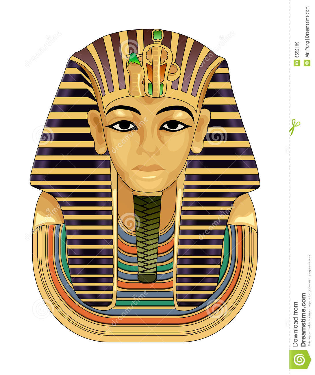Pharaoh Golden Death Mask Royalty Free Stock Images Image 6552189