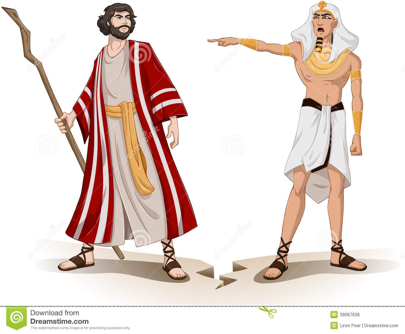 Pharaoh Sends Moses Away For Passover Stock Vector Image