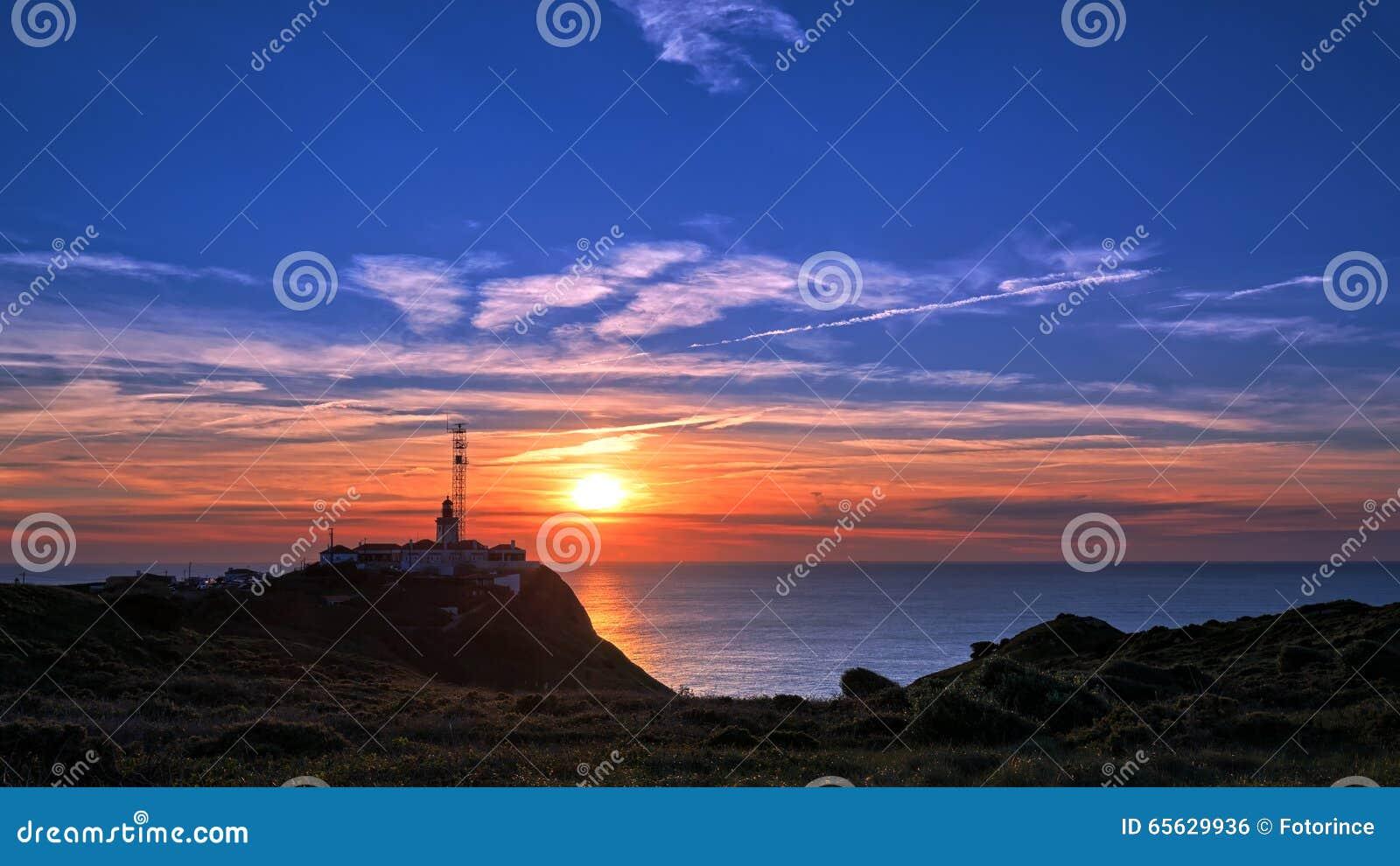 Phare chez Cabo DA Roca au Portugal