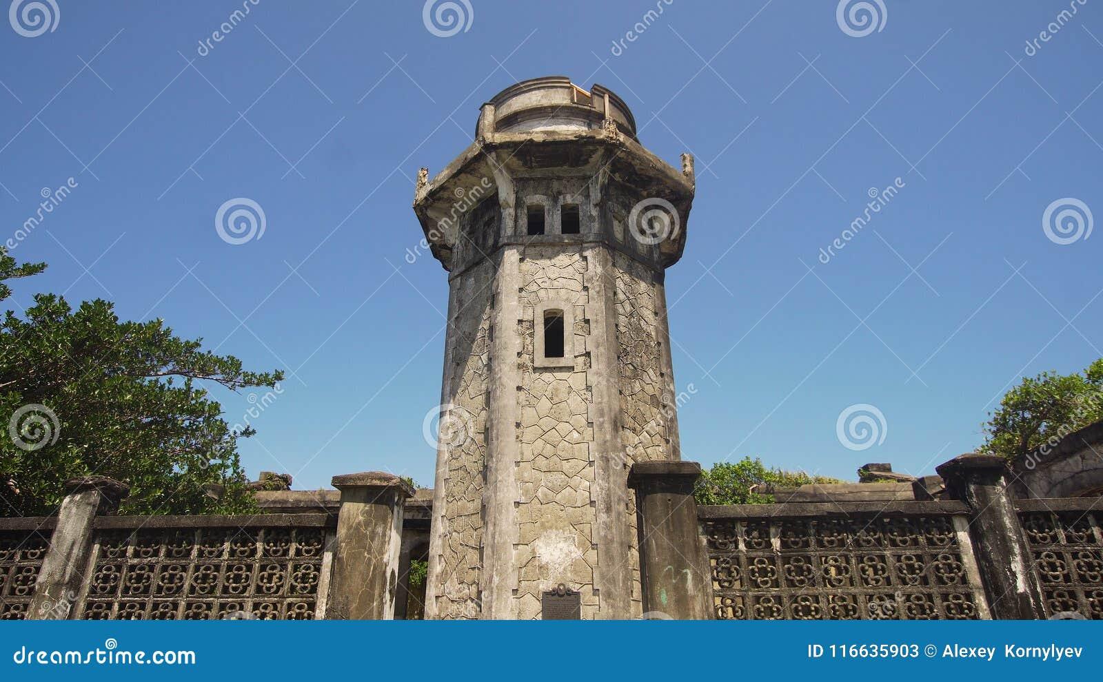 Phare dans l engano de cap Philippines, île de Palaos