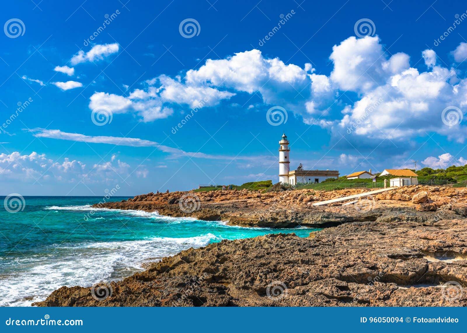 Phare de Cap de Ses Salines sur Majorca Espagne