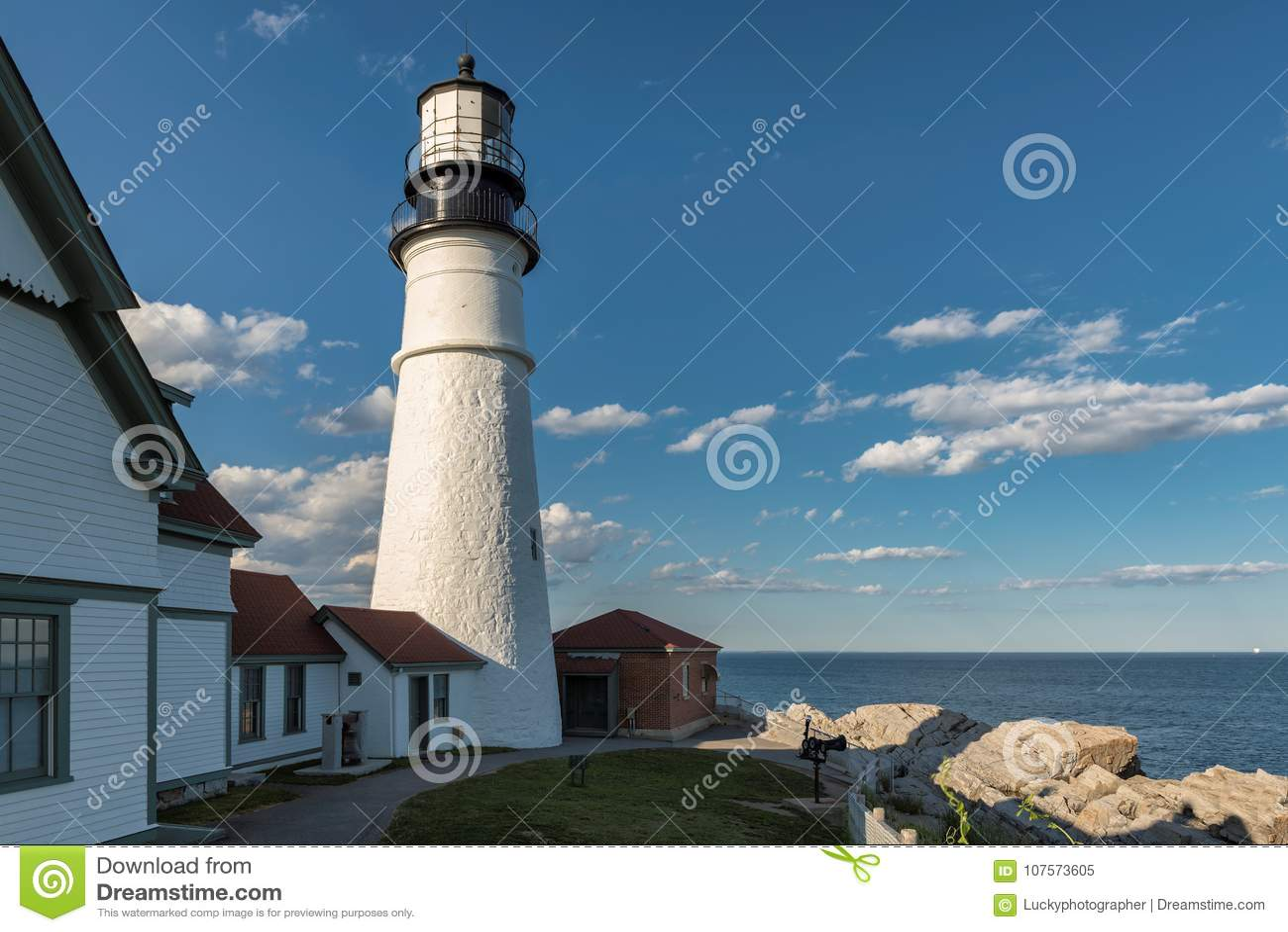 Phare de Portland dans le cap Elizabeth, Maine, Etats-Unis