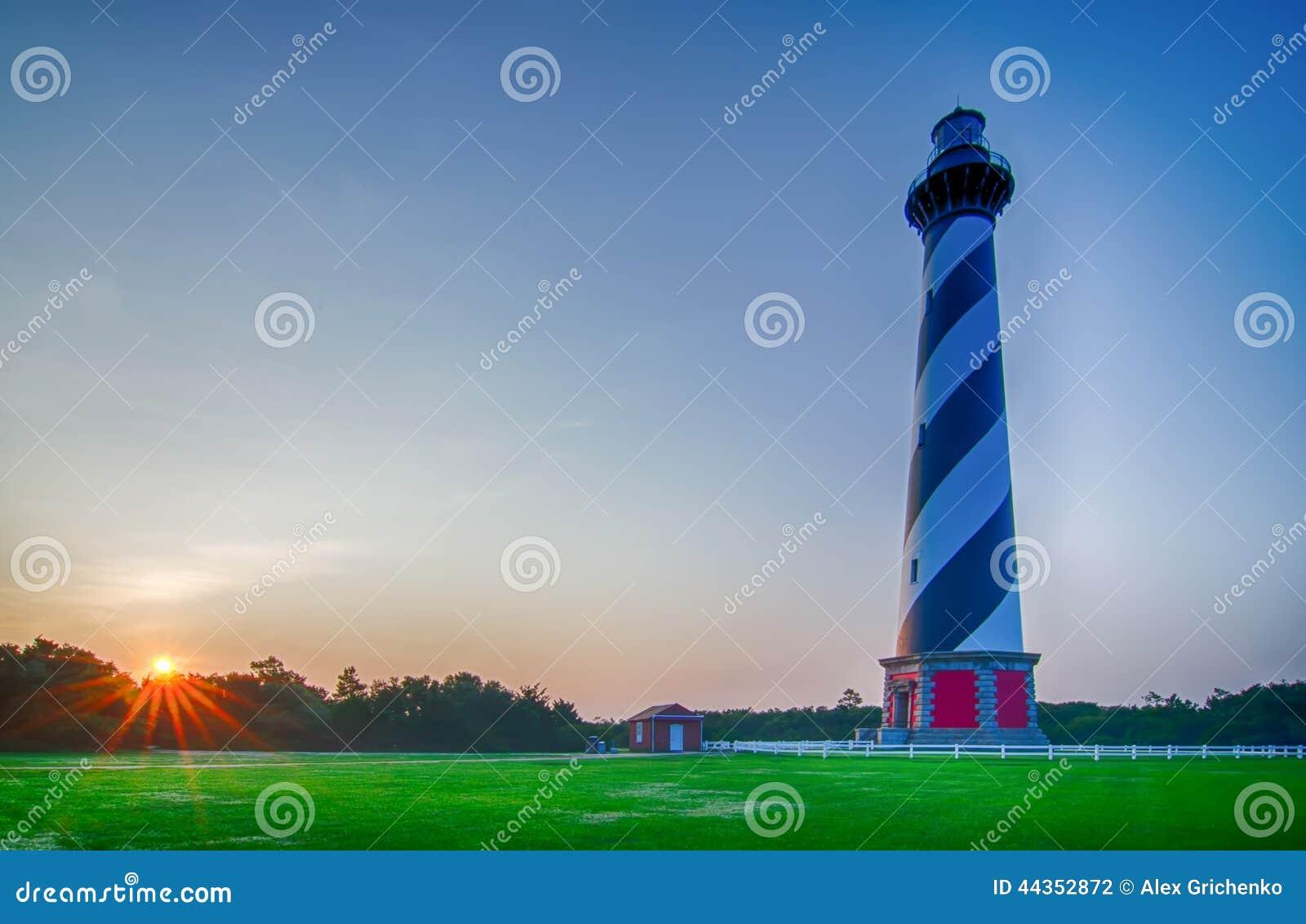 Phare du Cap Hatteras, banques externes, la Caroline du Nord