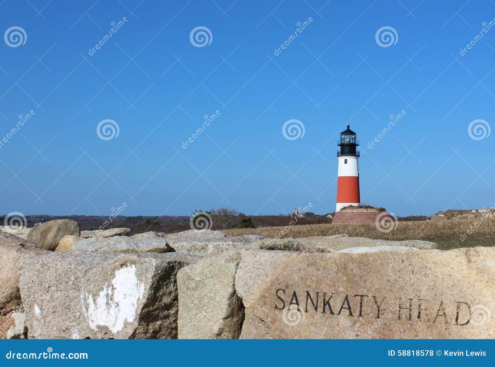 Phare Nantucket le Massachusetts de tête de Sankaty