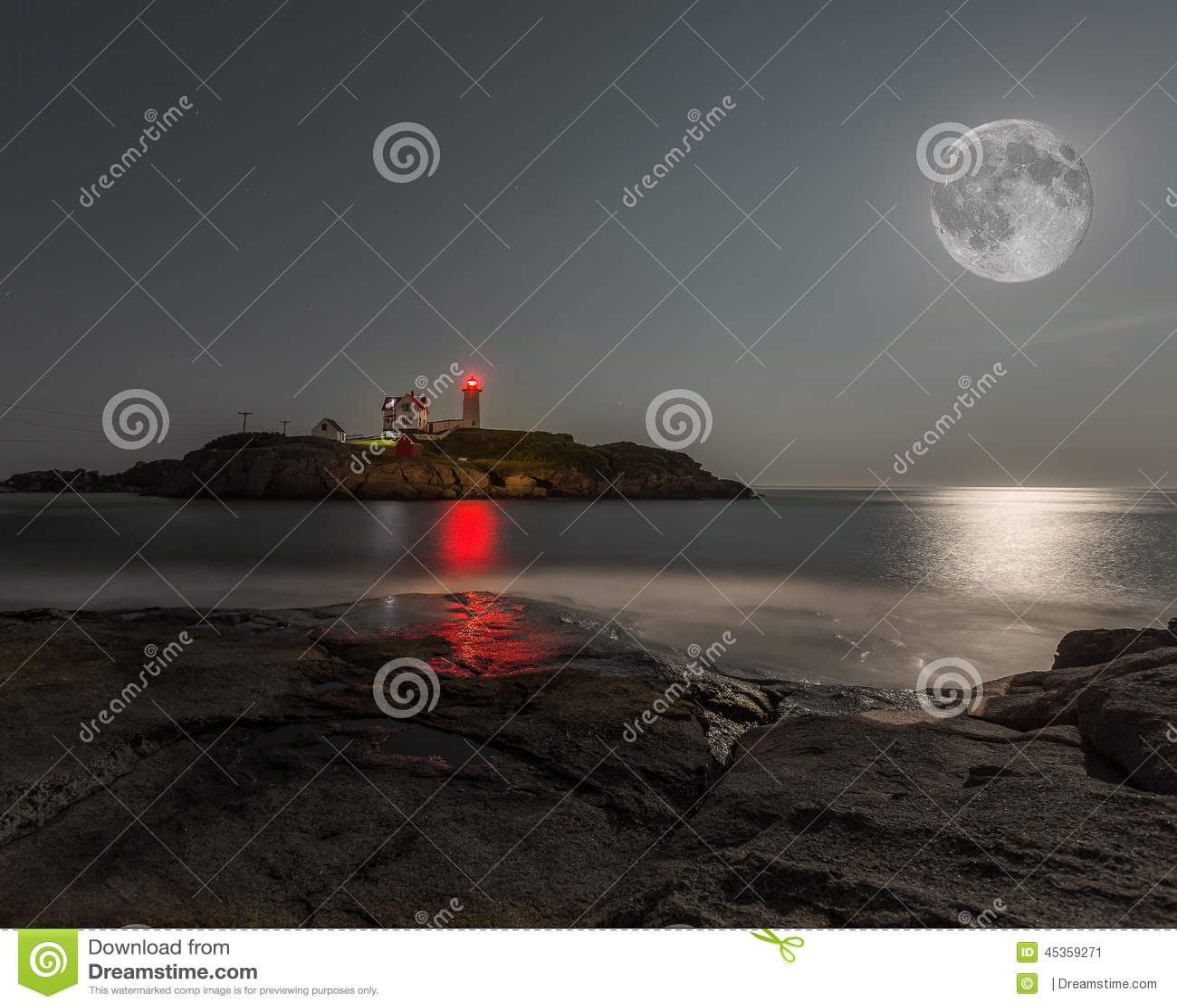 Phare superbe de protubérance de lune