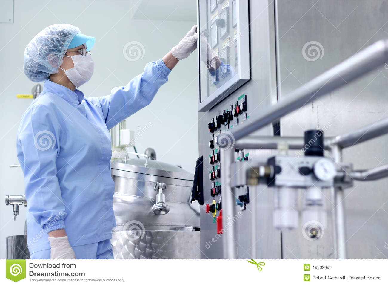 Pharmaceutical Manufacturing Royalty Free Stock Image - Image ...