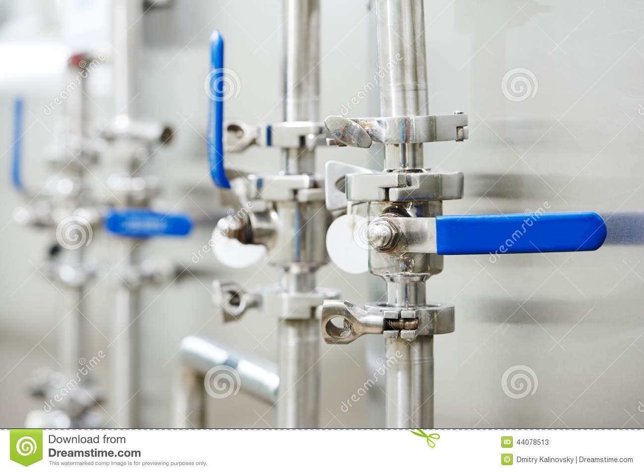 Pharmaceutical water preparation system stock photo