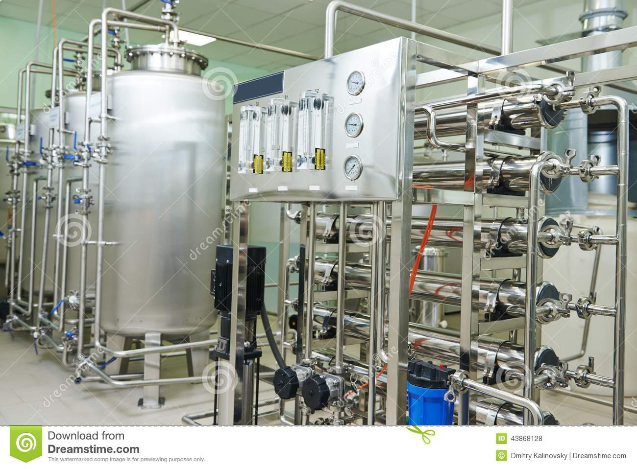 Pharmaceutical Water Treatment System Stock Photo Image