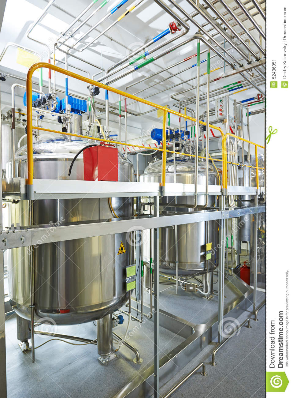 Pharmaceutical Water Treatment System Stock Image Image Of