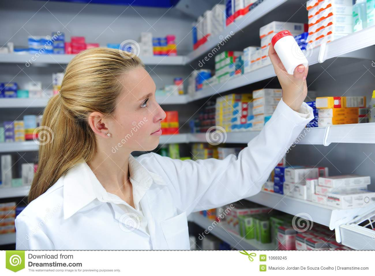 Pharmacist searching