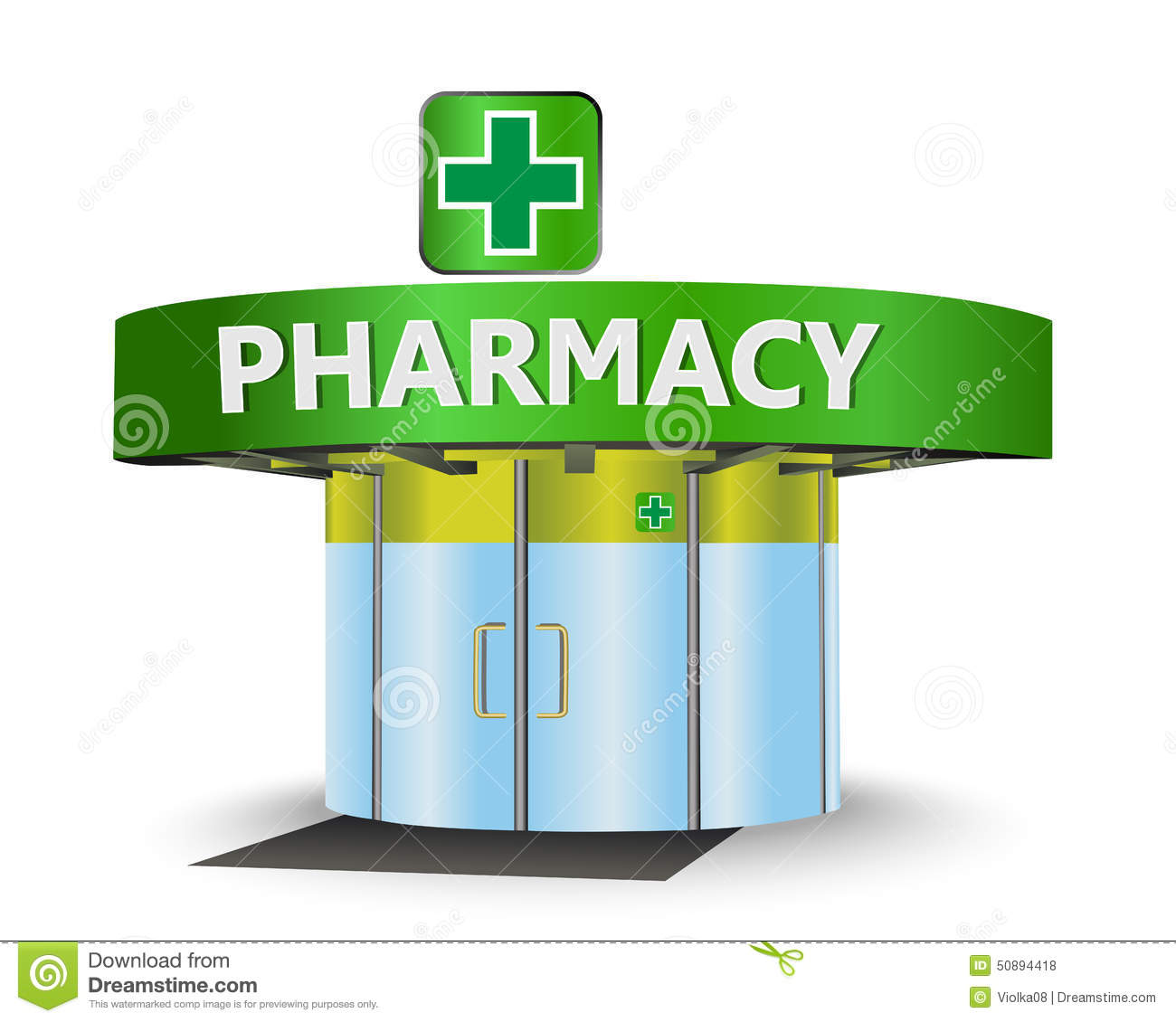 3d Design House Pharmacy Building Stock Illustration Image 50894418