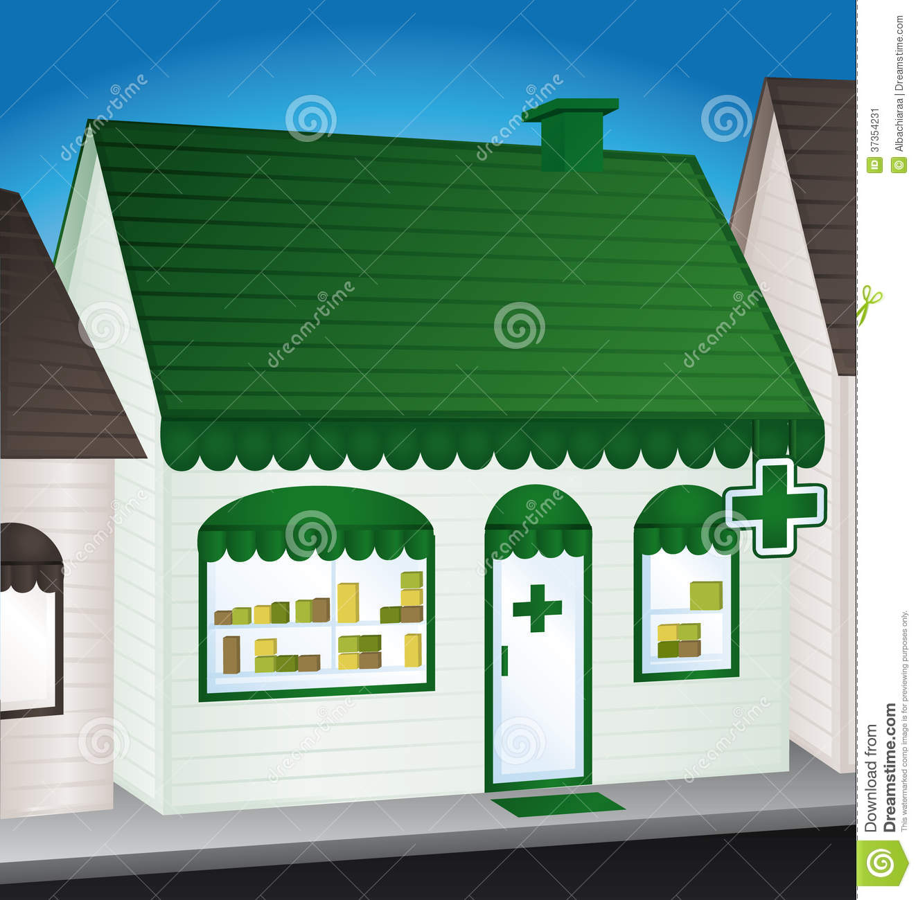pharmacy  convenience store  stock image
