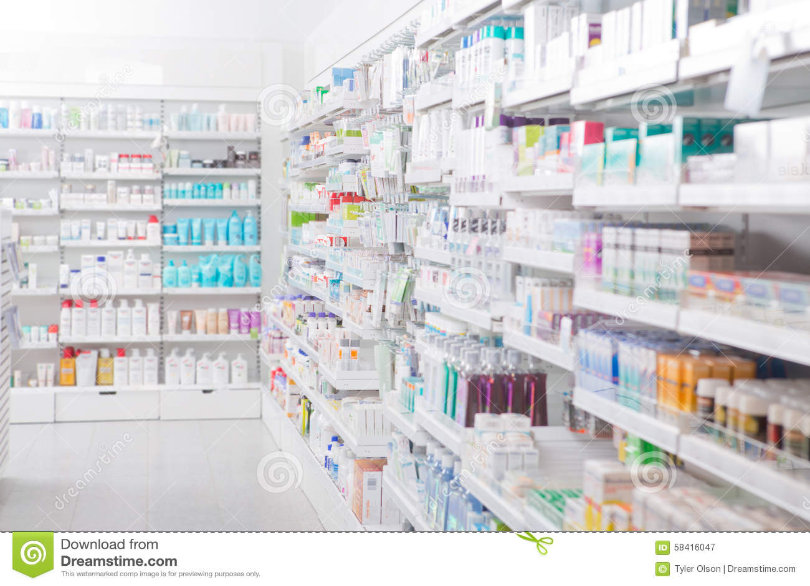Pharmacy Interior Stock Photo Image 58416047