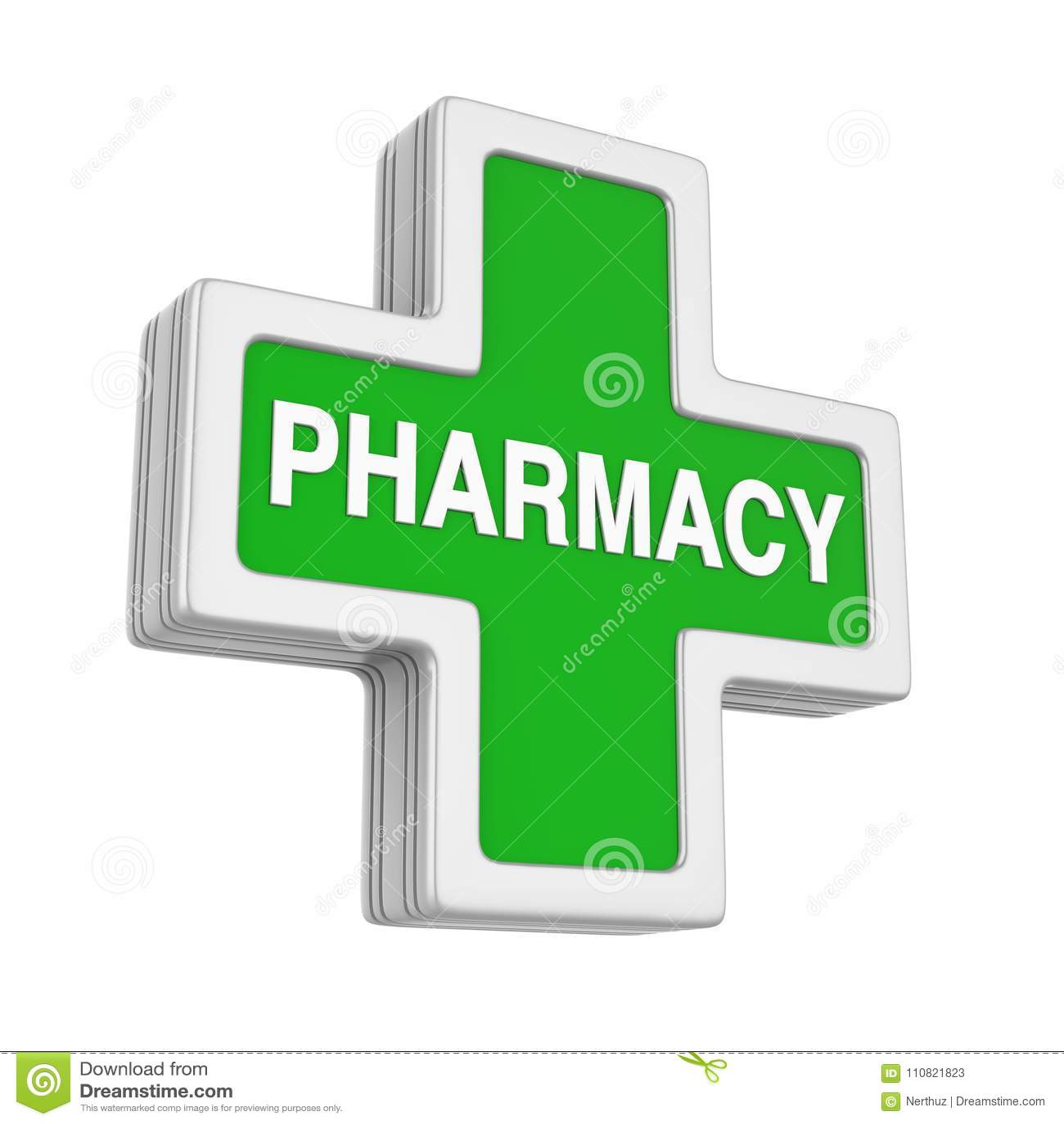 Pharmacy Symbol Isolated Stock Illustration Illustration Of Green