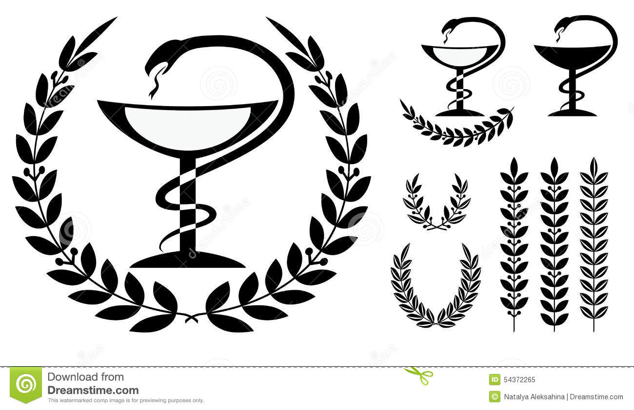 Pharmacy Symbol Medical Snake And Cup Stock Illustration