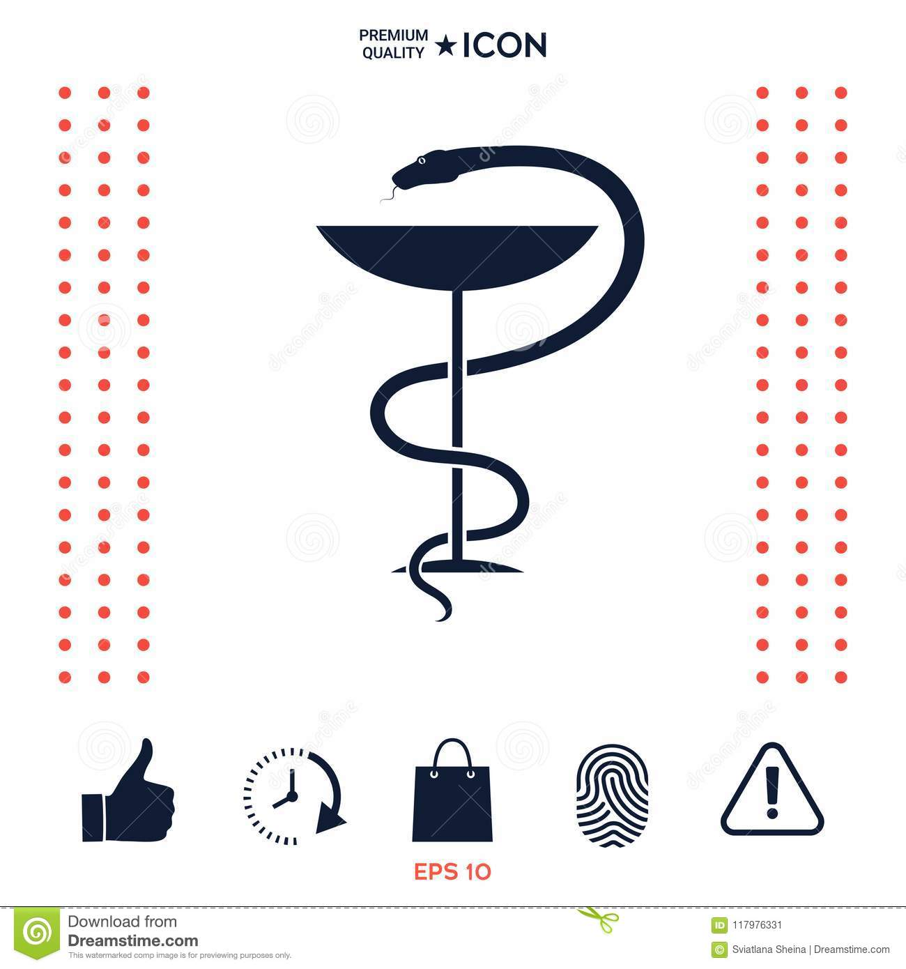 Pharmacy Symbol Medical Snake And Cup Stock Vector Illustration Of