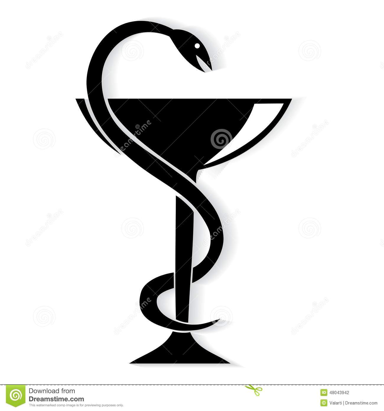 Pharmacy symbol medical snake and cup illustration 48043942 megapixl buycottarizona Image collections