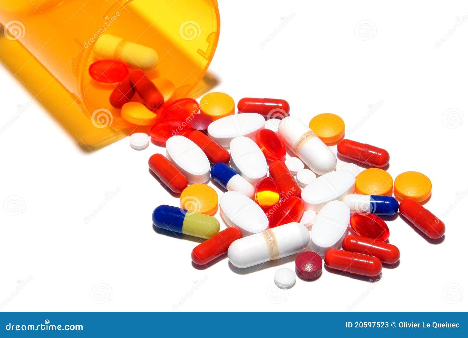 Pharmazeutisches Verordnung-Pille-Cocktail Stockbild