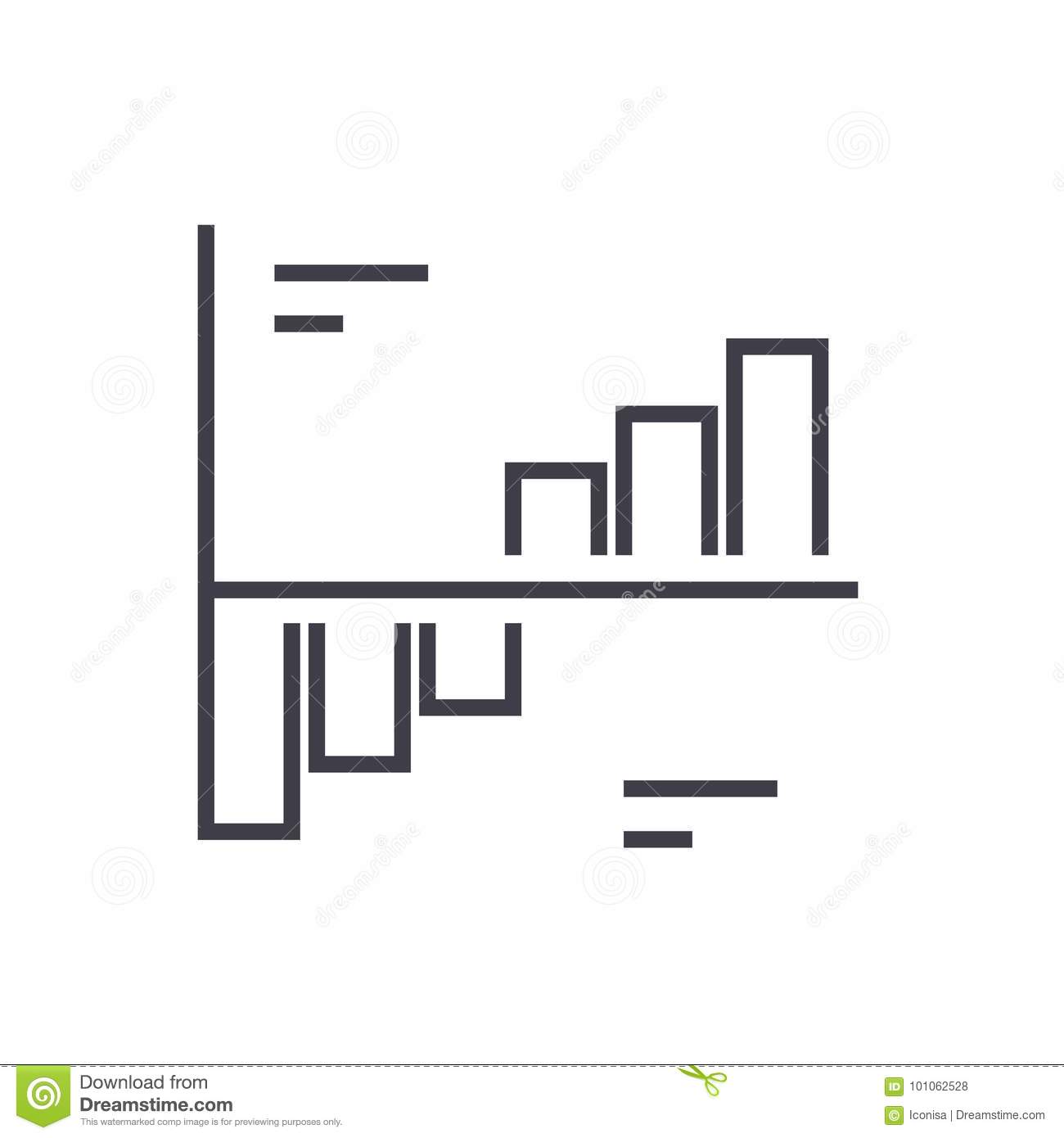 Phase Plots Vector Line Icon  Sign  Illustration On