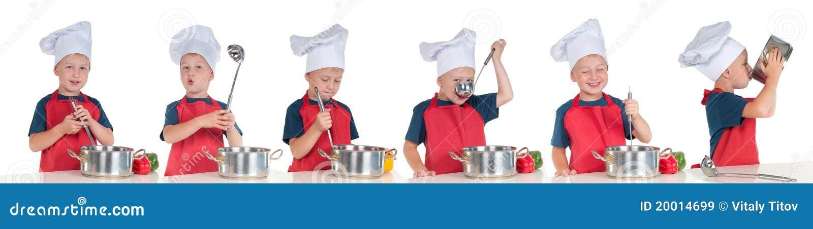 Phases savoureuses d étapes de praparation de nourriture