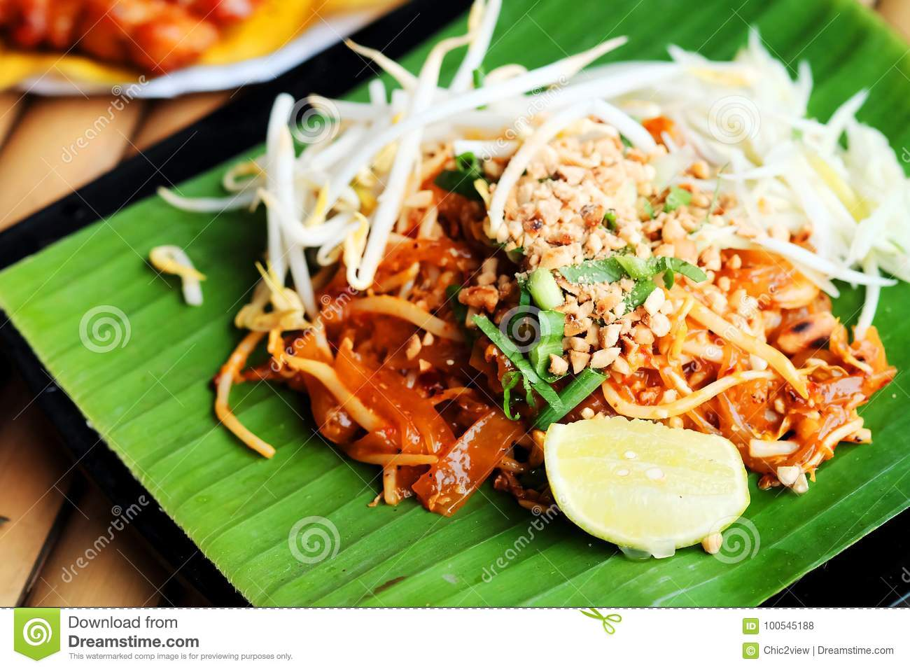 phat thaior pad thai is a famous thailand tradition. Black Bedroom Furniture Sets. Home Design Ideas