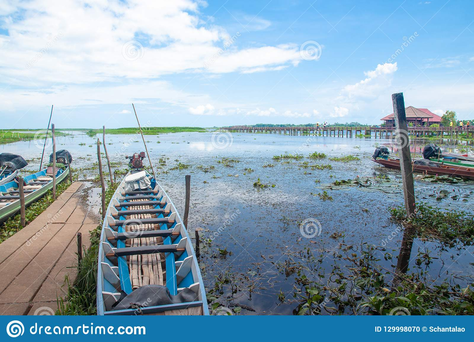 PHATTHALUNG, THAILAND : October 13, 2018 - Thale-Noi is a nation