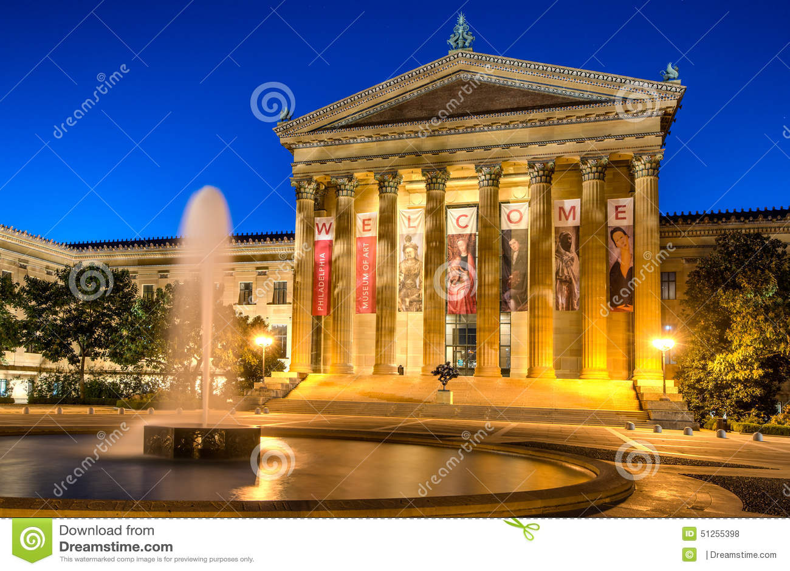 Philadelphia Art Museum en Fontein
