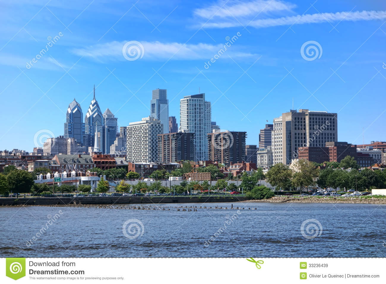 philadelphia center city tower and office building stock image image 33236439. Black Bedroom Furniture Sets. Home Design Ideas